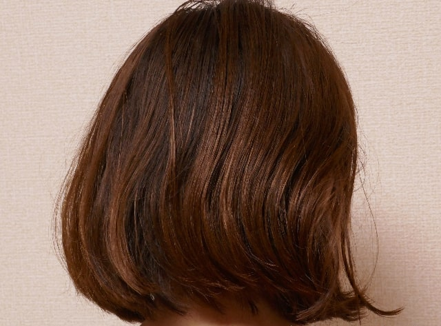 使用の髪全体